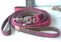 Harris Tweed Cerise  Dog Lead.